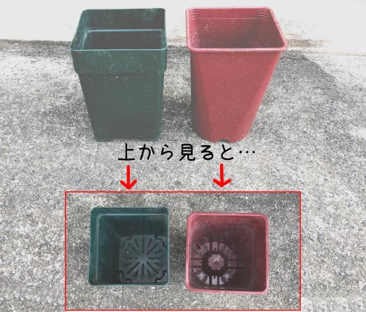 プラスチック鉢の構造